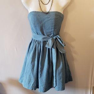 Love Culture soft Jean Strapless Dress Small